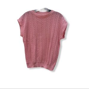 Vintage Acrylic Sweater Pink